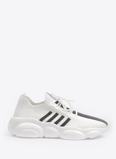 Vizon Ayakkabı Sneakers Beyaz